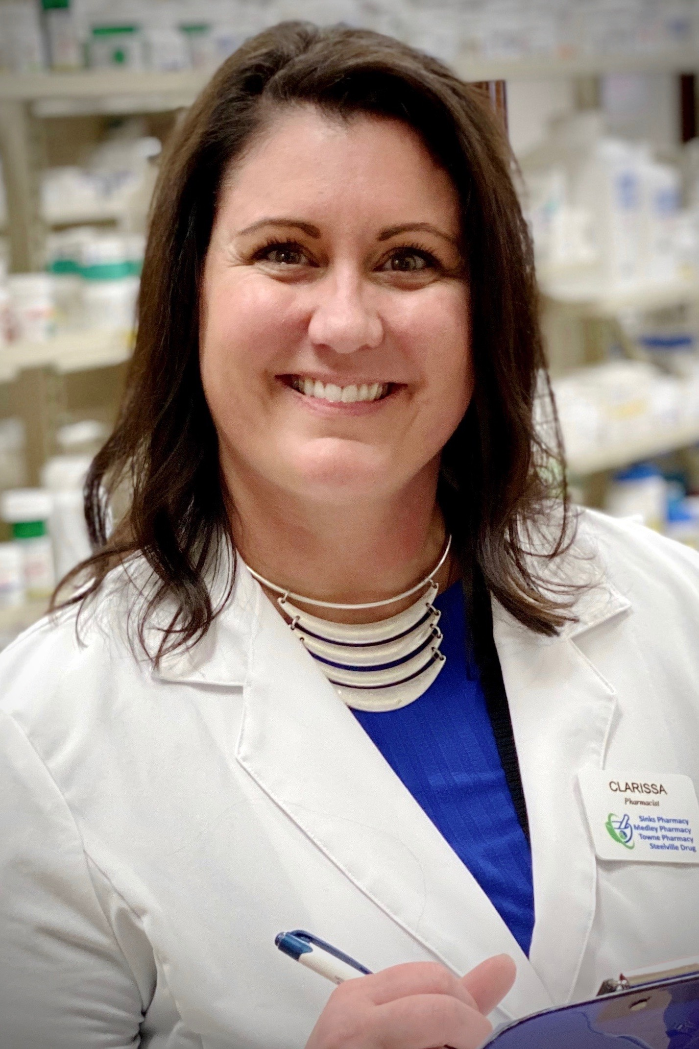 pharmacist in charge Dr. Clarissa Hall