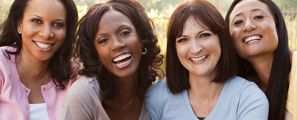 Group of women smiling for Bio-Identical Hormone Therapy